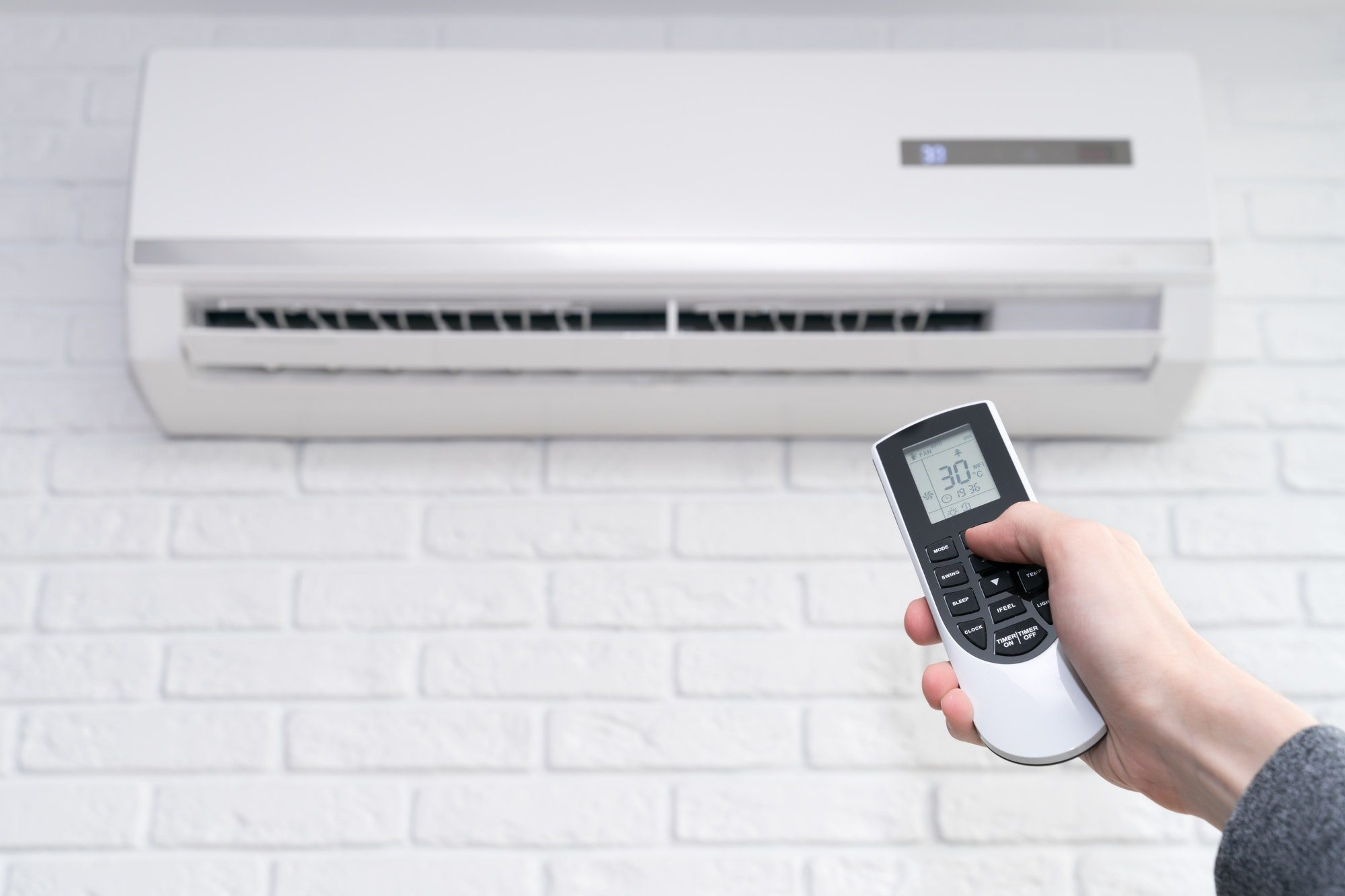 Indoor installing air conditioning